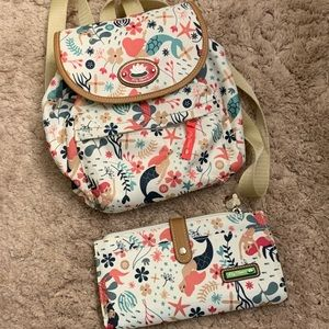 Lily Bloom Backpack & Wallet
